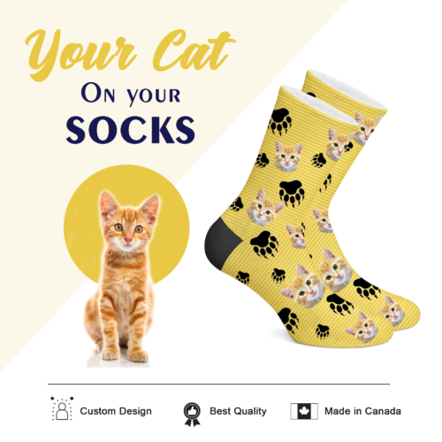 Customizable Cat Socks - PRINT CAT ON YOUR SOCKS